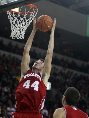 Wisconsin Badgers forward Frank Kaminsky scored 43 points in a win against North Dakota earlier this season.