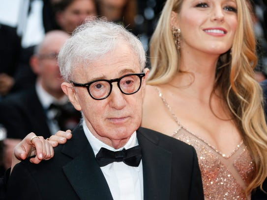 Director Woody Allen and Blake Lively arrive at the
