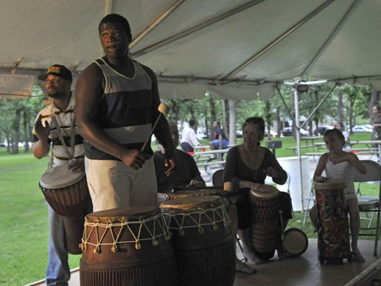 Drummers provide entertainment and music for the annual Juneteenth celebration in this file photo from last year.
