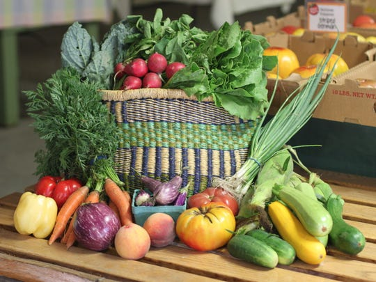 CSA basket from Stokes Farm in Old Tappan.