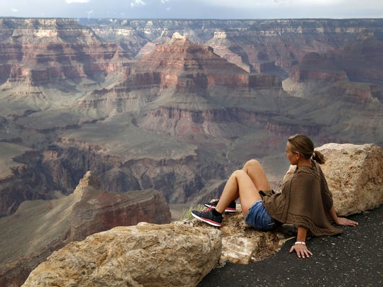 View from Powell Point, Grand Canyon, Arizona, on Aug.