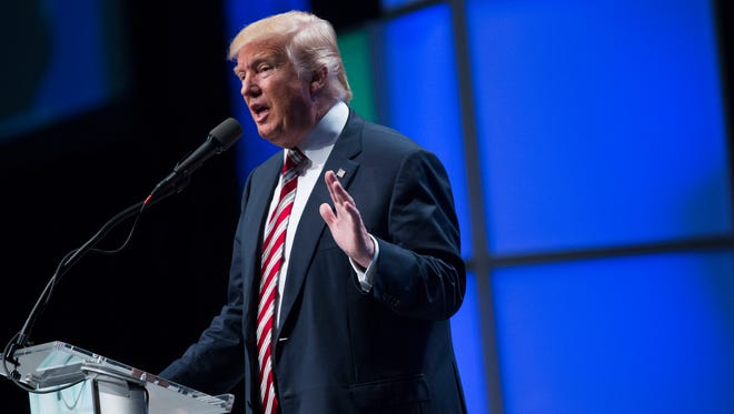 Donald Trump speaks in Pittsburgh on Sept. 22, 2016.