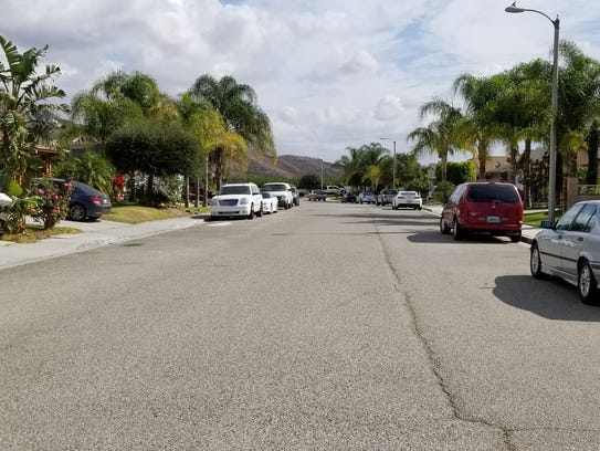 Citrus View Drive in Piru was the scene of a double