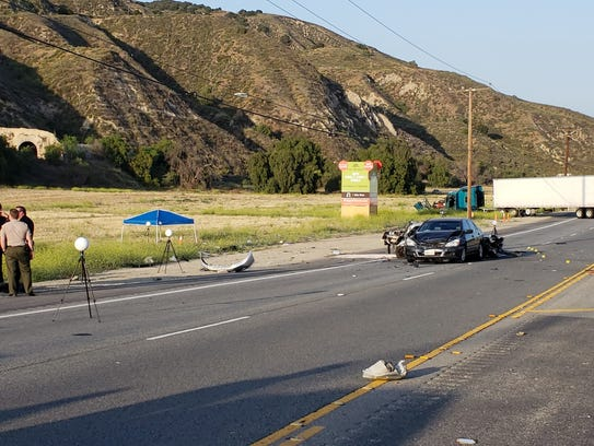 This was the scene after a multiple-vehicle crash Thursday