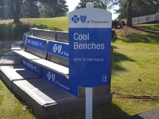 Air-conditioned benches are placed throughout TPC Southwind