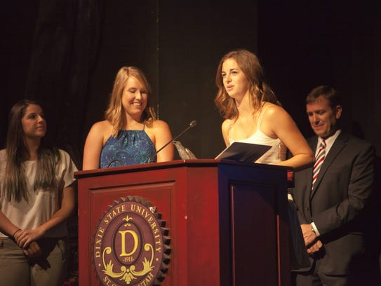 Directors Ashley Moradipour and Devyn Bisson receive