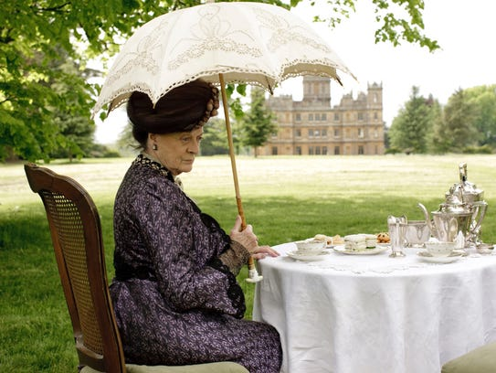 Dame Maggie Smith as Violet, the Dowager Countess of