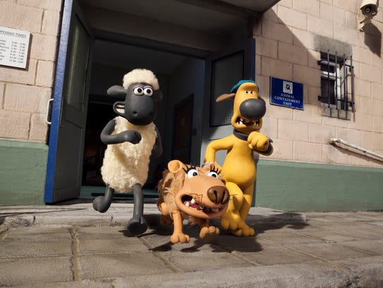 Shaun (from left), Slip and Bitzer in the animated