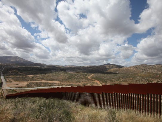 To the north of Tecate, Mexico through the international