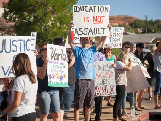 Supporters of former Dixie State theater professor
