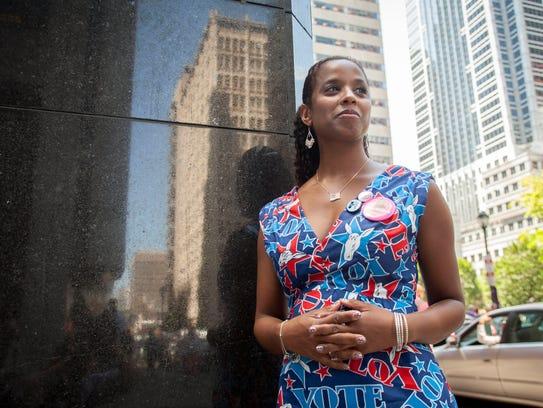 Rhea Beddoe, a Hillary Clinton supporter from New York