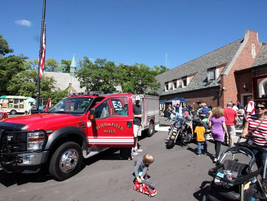 Families strolled around the Bloomfield Hills City