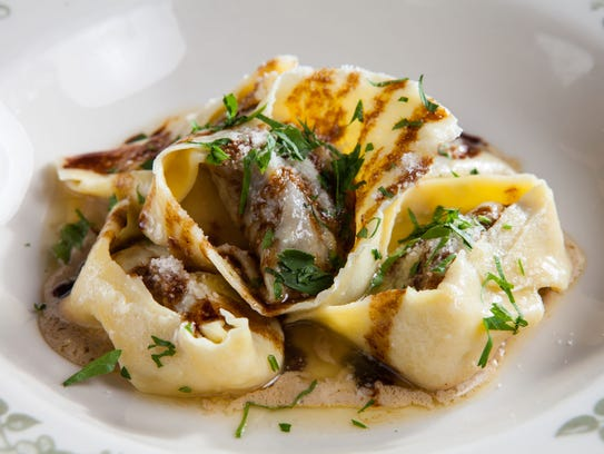 Tortelloni with roasted beef short rib, foie gras emulsion
