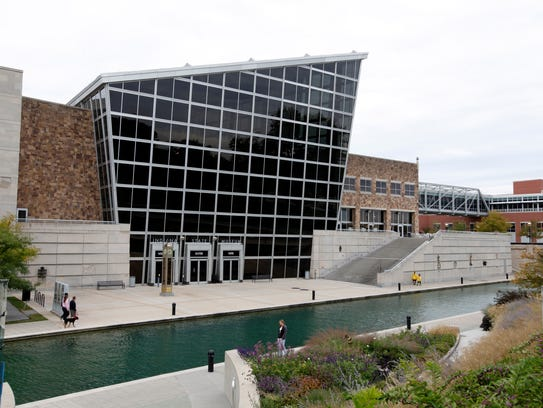 The Indiana State Museum is shown in Indianapolis,