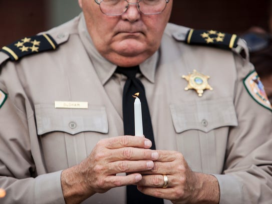July 2, 2016 - Shelby County Sheriff Bill Oldham holds