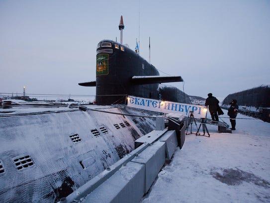 A Russian nuclear submarine.