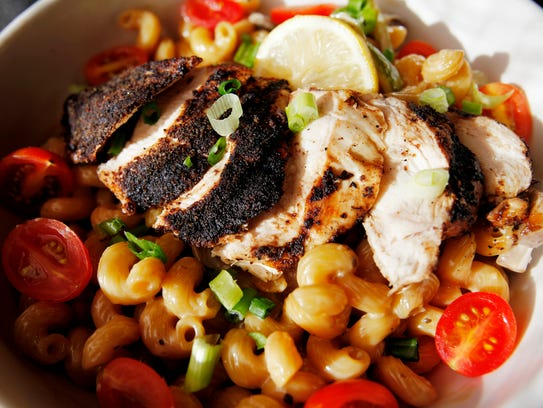 Nine Mile's Meshach, a pasta dish with grilled hickory