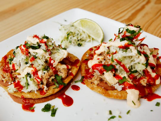 Sonora Cocina Mexicana's chicken tostada includes two