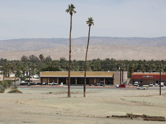View of Highway 111 in Cathedral City from the site