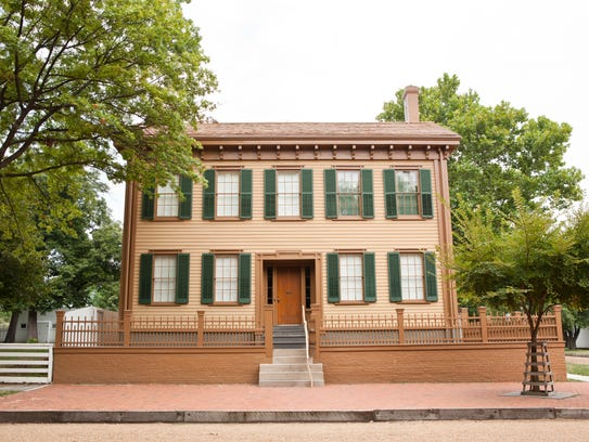 Abraham Lincoln's home in Springfield, Illinois.