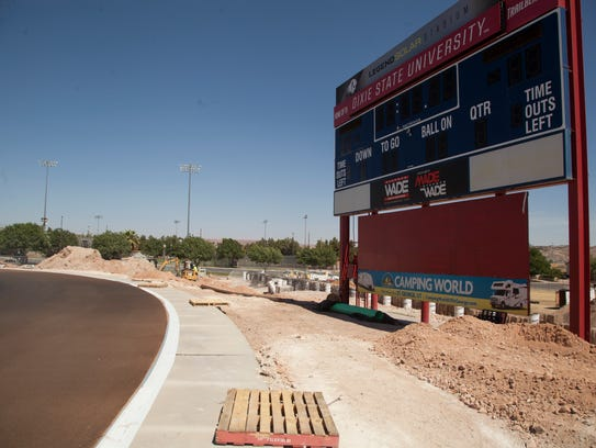 Construction crews continue work on Legend Solar Stadium
