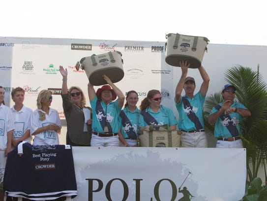 Polo players at last year's Polo Under the Oaks.