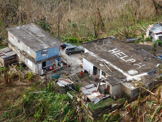 Destruction in the aftermath of Hurricane Maria in