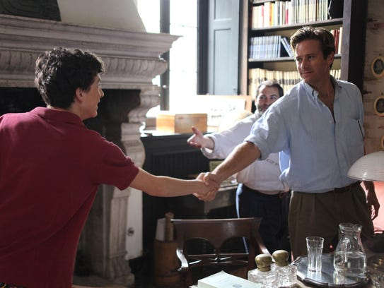 Timothée Chalamet and Armie Hammer in a scene from 'Call Me By Your Name.'