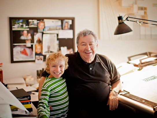 The late Irving Tobocman with his grandson, Caleb.