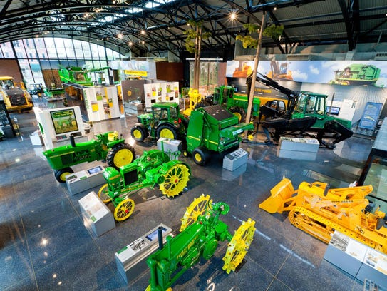 The John Deere Pavilion is a grand showcase for the