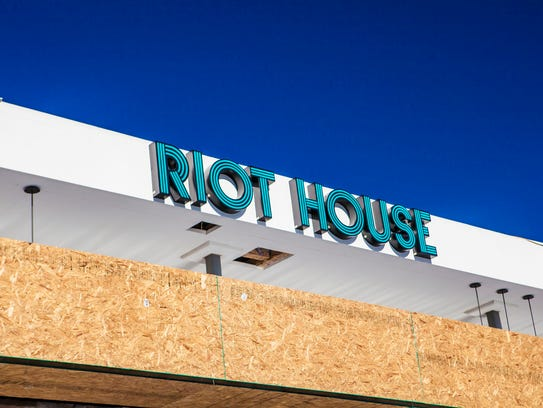This photo of the exterior was taken while the building was under construction. Riot House opens this weekend.