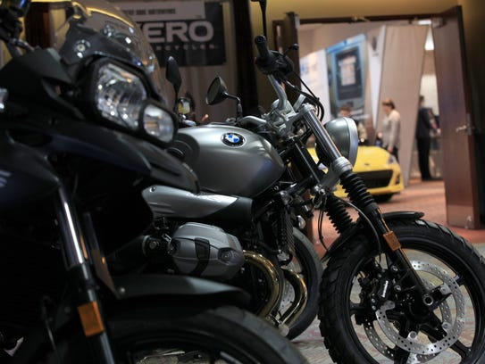 BMW bikes on display during the Rochester International