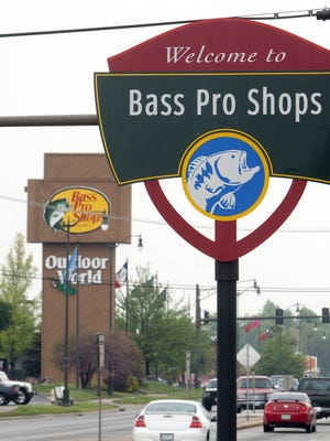 A Bass Pro Shops sign in Springfield.