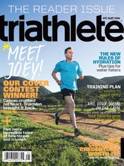 Joey Lee of Madison bares his heart in an essay to Triathlete magazine and wins a contest to be on the May cover.