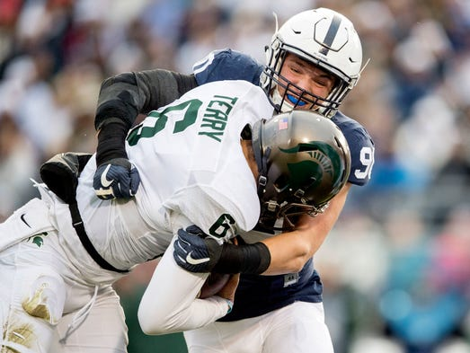 Penn State defensive end Garrett Sickels sacks Michigan