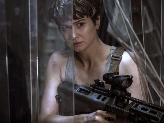 """Katherine Waterston stars in """"Alien: Covenant,"""" in theaters on May 19."""