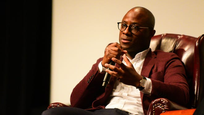 """Barry Jenkin's, a graduate of Florida State's College of Motion Picture Arts, spoke to a crowded audience at Ruby Diamond Concert Hall on Friday, March 31st. Jenkin's 2016 film """"Moonlight"""" recieved critical acclaim and numerous awards, including the 2017 Academy Award for Best Picture."""