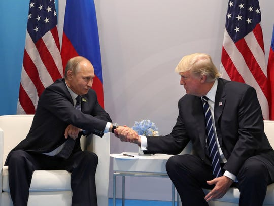President Trump meets with Russian President Vladimir