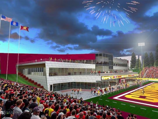 Central Michigan rendering photo for the Chippewa Champions