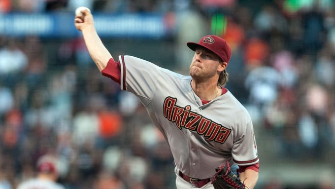 Apr 16, 2015: Arizona Diamondbacks starting pitcher Archie Bradley (25) throws a pitch against the San Francisco Giants during the first inning at AT&T Park.