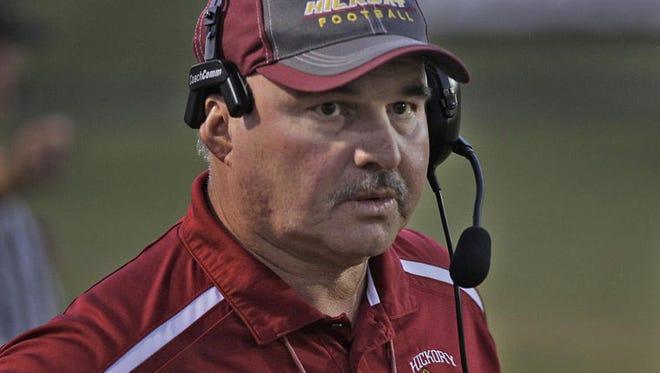 Hickory football coach Mike Helms