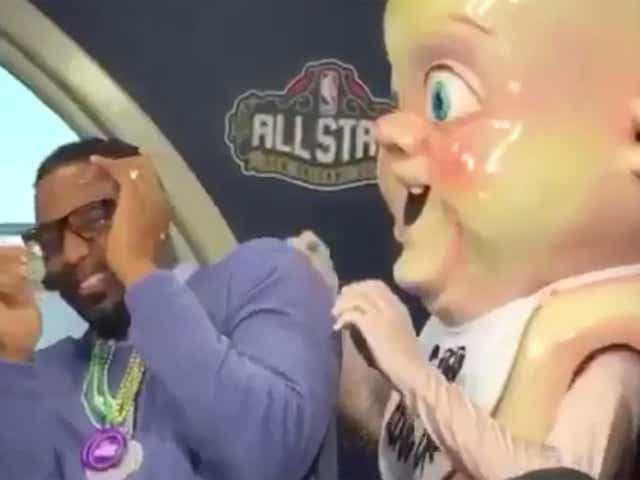 Tracy Mcgrady Hilariously Meets King Cake Baby
