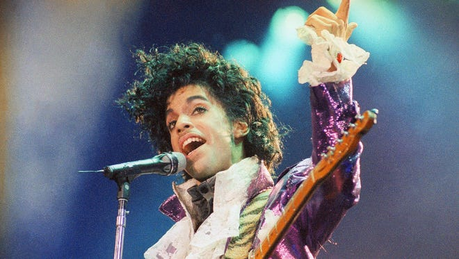 Prince performs at the Forum in Inglewood, Calif., in 1985.