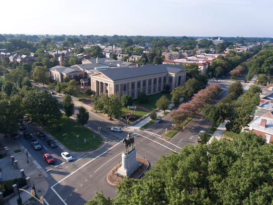 This Tuesday, Aug. 22, 2017, photo shows a view of