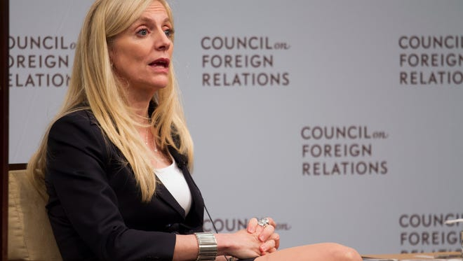 Federal Reserve board member Lael Brainard speaks to the Council on Foreign Relations in Washington, Friday, June 3, 2016. Brainard signaled that the Fed should be in no hurry to act, especially after a bleak U.S. jobs report was released earlier in the day.