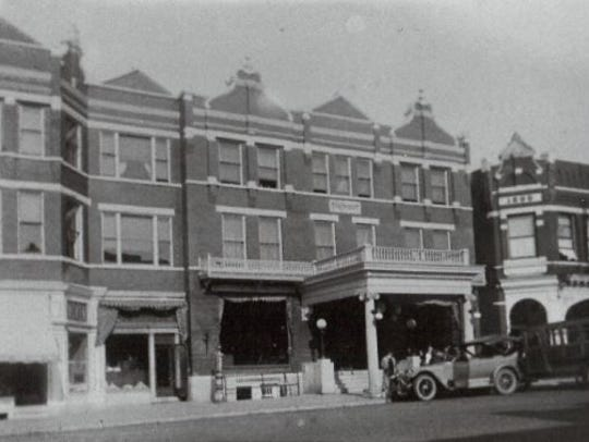 A photo of Blodgett Hotel taken by J.M. Colby of Wausau