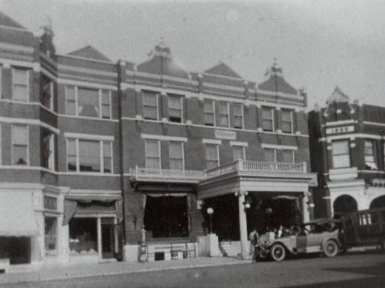 A photo of Blodgett Hotel taken by J.M. Colby of Wausau in 1925.