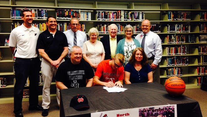 North Buncombe senior Daniel Burchette has signed to play college basketball for North Greenville (S.C.).