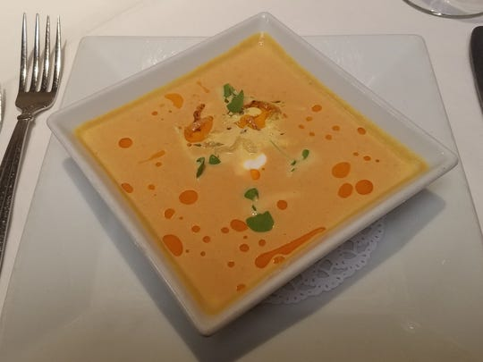 Butternut squash soup from Verve Restaurant.