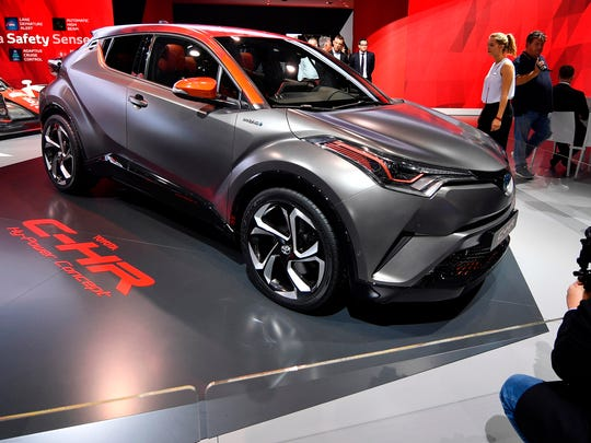 A Toyota C-HR concept is shown on the first media day